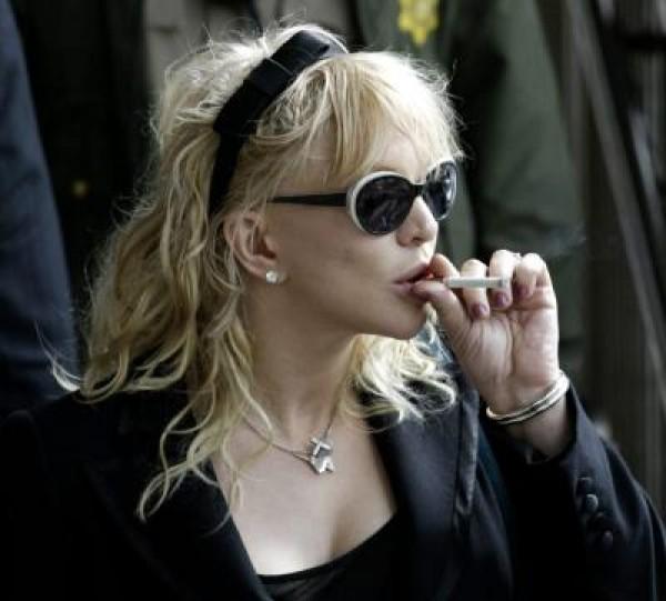 Singer Courtney Love exits Los Angeles Superior Criminal Division
