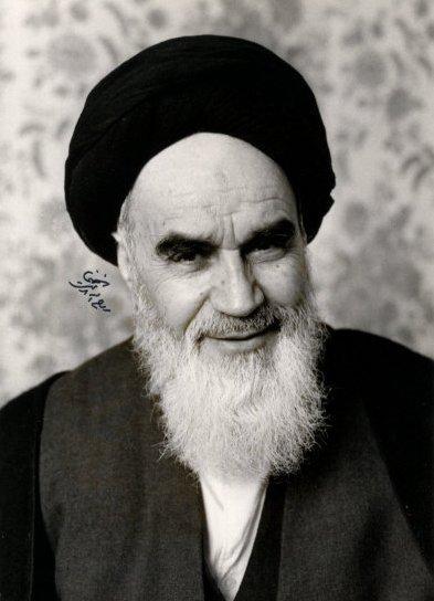 smiling khomeini