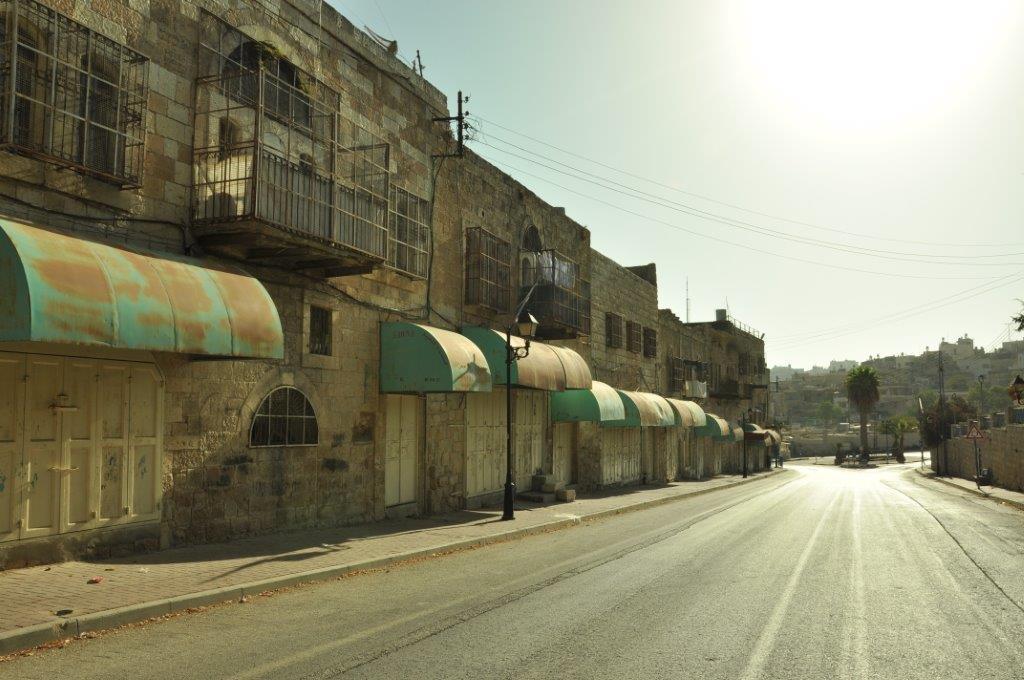 Shuhadda-straat in Al-khalil (Hebron)